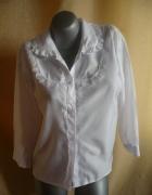 Elegancka biała koszula L