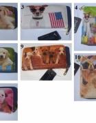 Świetny portfel damski z psem z psami