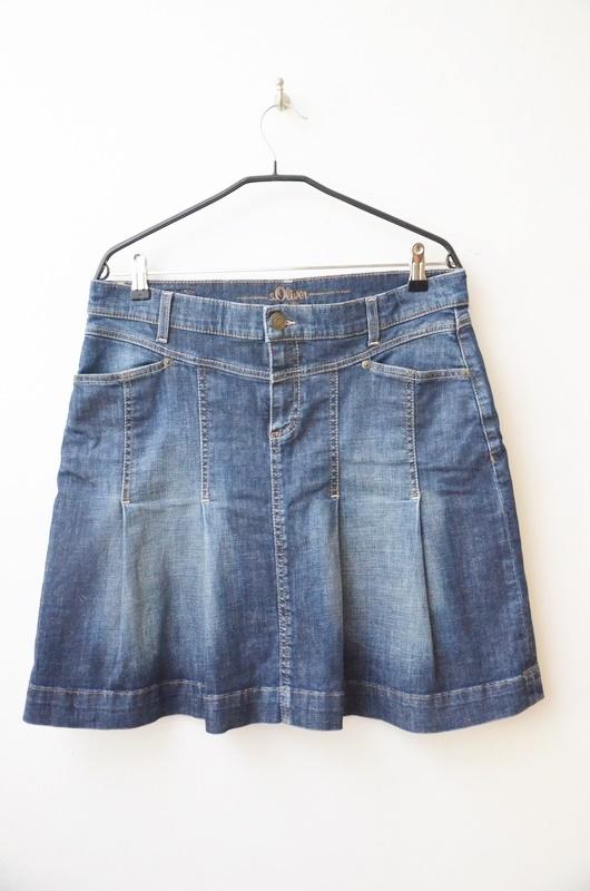 Spódnice S Oliver dżinsowa spódnica jeansowa plisy 42 44