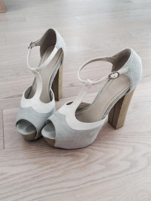 Sandały Miętowe sandałki