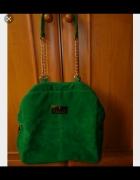 Zielona zamszowa torebka Mohito