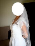 Sprzedam wyjątkową sukienkę ślubną muślinkoronka...