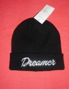 Czarna zimowa czapka Dreamer...