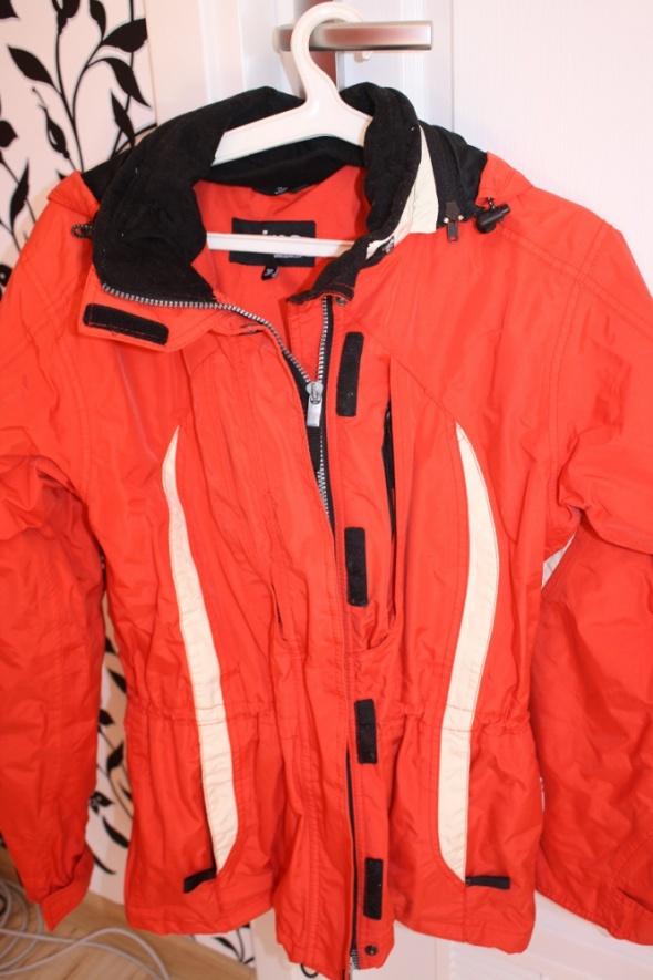kurtka zimowa dobra jakosciowo s narciarska czerwo
