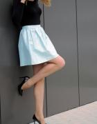 Mohito spódnica M srebrno miętowa tłoczona