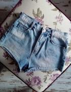 Hit ZARA jeansy szorty wysoki stan 34