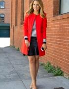 czerwony płaszcz zara słomka xs s