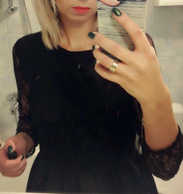 Suknie i sukienki Czarna z koronką SM