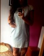 sukienka z lekkiego jeansu marmurkowa