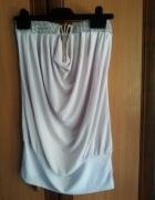 Zwiewna biała bluzka tunika