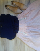 spódnica turkusowa paski