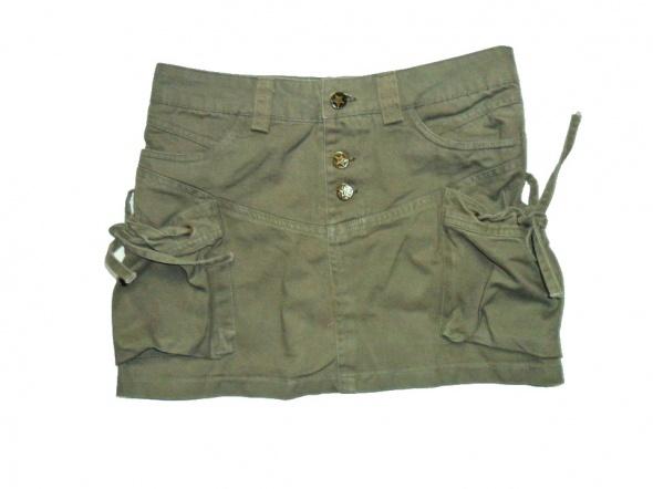Spódnice Spódniczka mini khaki bojówka 36