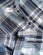 Bluzka koszula w modną kratę ze srebrną nicią el