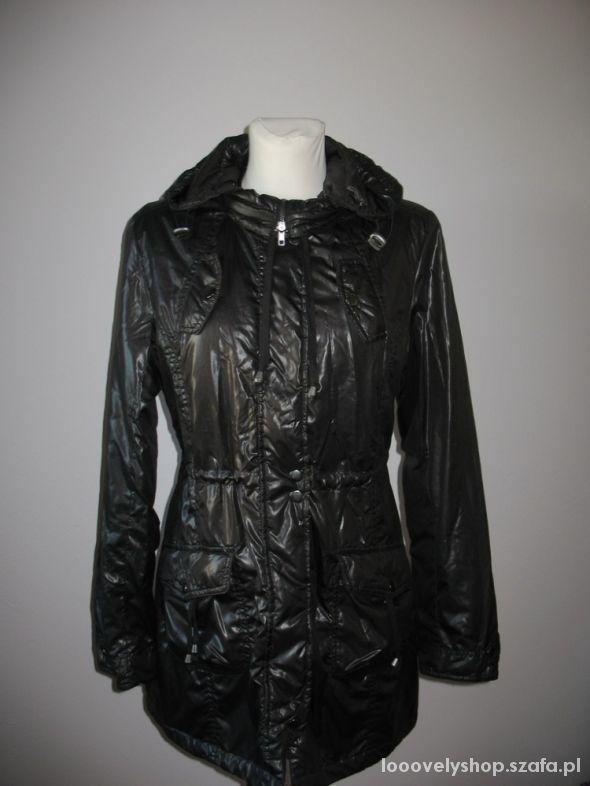 Odzież wierzchnia Czarny płaszcz Orsay