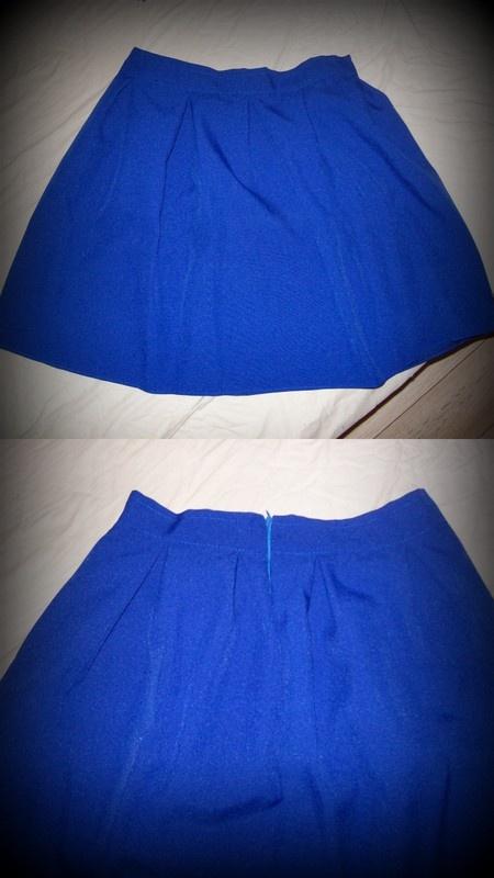 Spódnice kobaltowa nowa