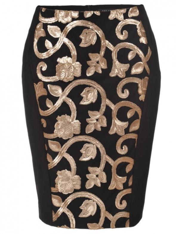 Spódnice top secret spódnica elegancka barokowa czarna