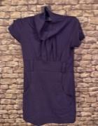 Granatowa mini sukienka