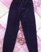 Welurowe legginsy czarne M L