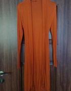 Pomarańczowy długi sweter