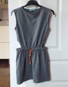 Szara sukienka kombinezon na codzień XS