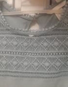 bluzeczka ażurowa na przodzie 34 XS H&M