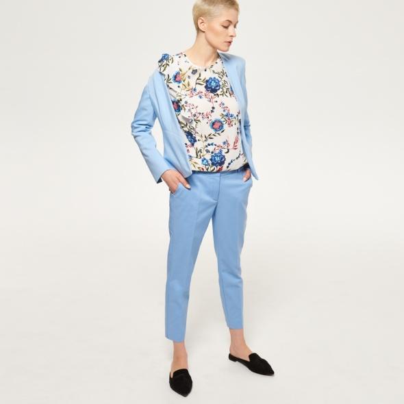 Spodnie Cygaretki błękitne Reserved