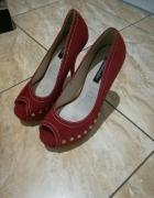 buty szpilki czerwone