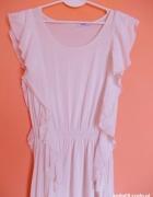 sukienka moty asymetryczna kremowa
