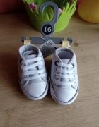 Buty niechodki rozm 16 cm niemowlę trampki