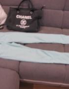 Spodnie rurki seledynowe