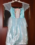 Sukienka księżiczka Strój niebieska królewna...