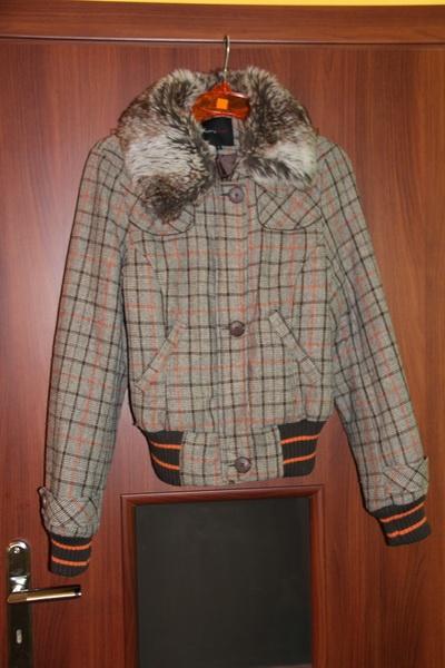 Odzież wierzchnia Ciepła kurtka w kratkę L Carry