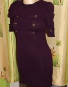 Fajna sukienkatunika śliwkowa S M cena do negocji