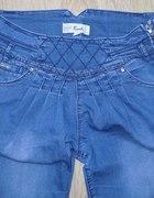 spodnie jeansy haremki S blue jeans rurki