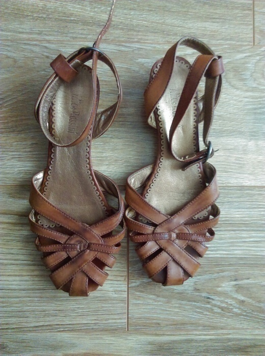 Sandały brązowe sandały