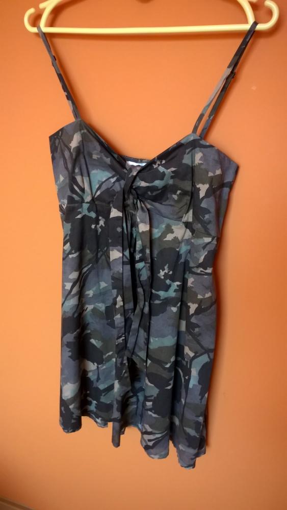 Suknie i sukienki sukienka w moro militarna Pimkie khaki 36 38