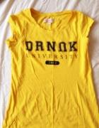 Żółta koszulka bluzka croop