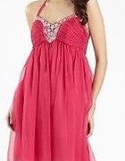 sukienka tiulowa różowa
