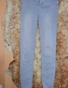 Spodnie Skinny New Look szare obcisłe rurki 3436