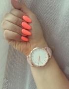 zegarek pastelowy pudrowy roz