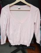 Delikatny sweterek pudrowy różowy New Look S M