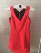Niesamowita neonowa sukienka wycięcia reserved XS