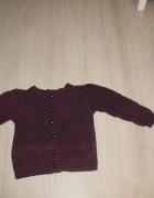 śliwkowy sweterek