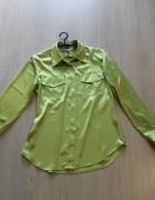 seledynowa koszula