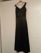 Długa czarna suknia rozmiar L