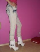 spodnie jeansy rozm m z zameczkami