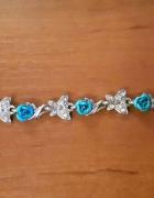 Srebrna bransoletka dziecięca kwiaty róże srebro