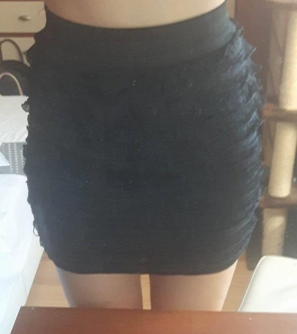 Spódnice Spódnica spódniczka Tally Weijl 36 S czarna mini