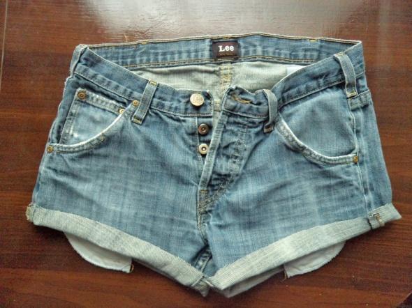 Spodenki jasne spodenki jeansowe lee S diy szorty 36