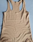 Koszulka na ramiączkach beżowa ecri nude 38 M